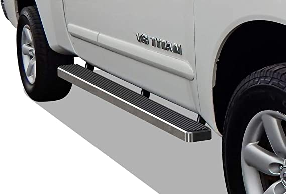 Running Board Side Step Nerf Bars 5in Silver Fit Nissan Titan King Cab 04-19