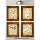 Original Video Games Patent Art Prints – Set of Four Photos (8×10) Unframed – Great for Game Room Decor