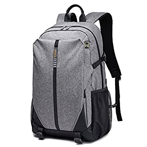 Seaoeey Men's and Women's Business Backpacks Student's Casual Bags Gray Small