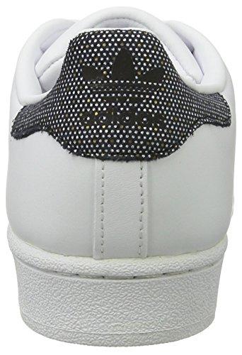 Femmes Adidas Superstar W Baskets, Blanc Argent (ftwwht / Cblack / Cblack)
