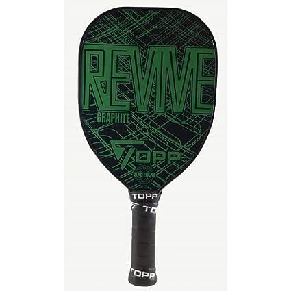 Topp Revive Graphite Teardrop Pickleball Paddle (Green)