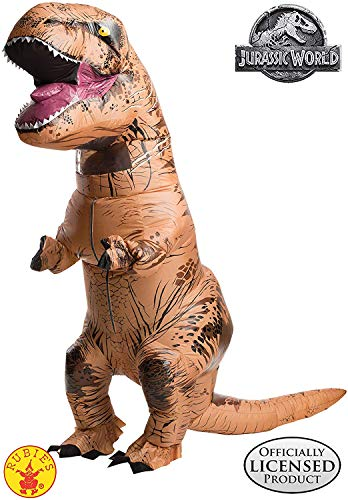 Happy Halloween Fat Guy (Rubie's Adult Official Jurassic World Inflatable Dinosaur Costume, T-Rex,)