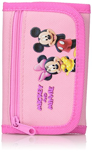 Disney Pink Trifold Mickey and Minnie Wallet - Minnie and Mi