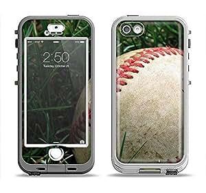 The Grunge Worn Baseball Apple iPhone 5s LifeProof Nuud Case Skin Set (Skin Only)
