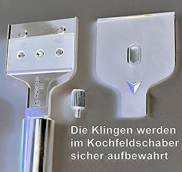 Edelstahl TOP Qualität Glasschaber Schaber Kochfeldschaber Ceranfeldschaber