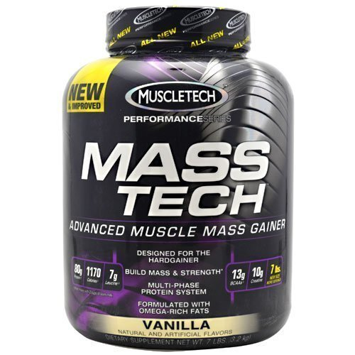 Muscletech Performance Series Mass Tech Vanilla 7lb Weight Gainer