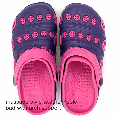 S27 Clogs Slipper On Slip Ameta Tone Garden Insole Shoes purple Mules Rubber Massage Women Two S54xwqY