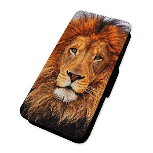 Awesome Lion Face photo–Flip cover in pelle copertura di carta Apple iPhone 5C