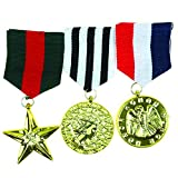 Skeleteen Costume Military Officer Medals - US Army Medal for Soldier Coat Jacket Costume Uniform
