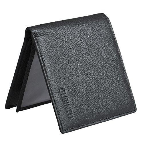 ManChDa Mens RFID Blocking Multi-Card Genuine Flip Bifold Wallet Card (Corporate Traveler)