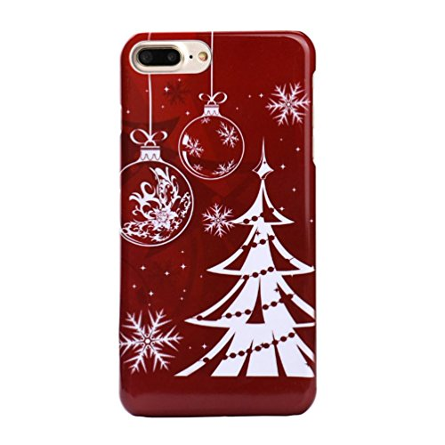 Tritan Cover (Tenworld X'MAS Gifts Merry Christmas Pattern Back Case Cover For for iPhone 7 4.7 Inch/iPhone 7 Plus 5.5 Inch (For iPhone 7 Plus 5.5