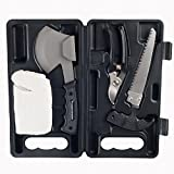 Wakeman Camping Tool Kit with Axe Saw Clippers & Gloves