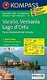 Varallo - Verbania - Lago d'Orta - Parco Nazionale Val Grande: Wanderkarte mit Aktiv Guide, Radrouten und alpinen Skirouten. Dt. /Ital. GPS-genau. 1:50000 (KOMPASS-Wanderkarten, Band 97)