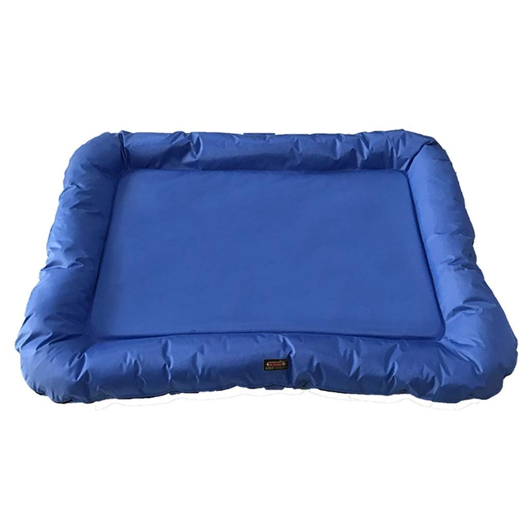 bluee L 80×60cm bluee L 80×60cm Thick Oxford Cloth Waterproof With Detachable Cover Rectangular Extra Large Pet Cat Mattress Mattress Kennel, Suitable For Indoor Travel Various Dogs   Cats   Pets ( color   bluee , Size   L 80×60cm )