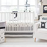 3 Piece Baby Black White Southwest Bear Crib Bedding Set, Newborn Tribal Themed Nursery Bed Set Infant Child I love You More Than I Can Bear Woodland Animal Blanket Comforter, Cotton