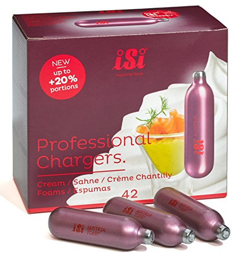 iSi Professional Chargers- Master Case of 504 -8.4 Gram Nitrous Cream Propellent 12x42 by iSi North America