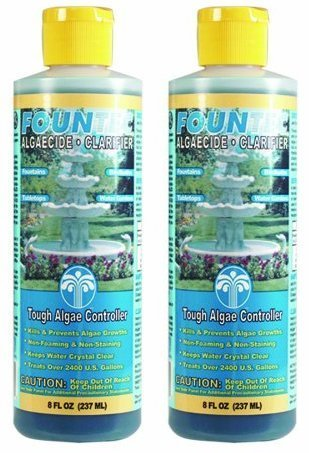(EasyCare 2 PACK FounTec Algaecide and Clarifier - 8 oz, Yellow)