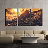 kitchen italian wall art - wall26 - 3 Piece Canvas Wall Art - Italian Alps Scenery. Northern Italy Mountain Landscape. - Modern Home Decor Stretched and Framed Ready to Hang - 24