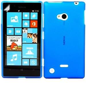 Gel Concha Caso Cubrir Y Protector De Pantalla Para Nokia Lumia 720 / Blue