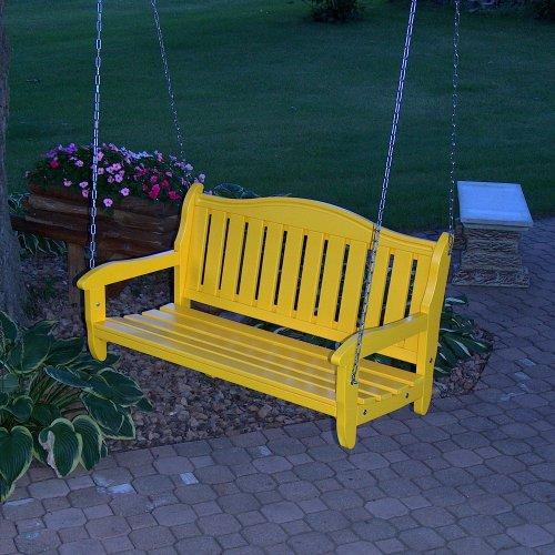 PRAIRIE LEISURE Garden Bench Swing White - Prairie Leisure Garden Bench