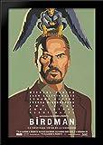 Birdman 28x40 Large Black Wood Framed Print Movie Poster Art