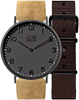 Ice-Watch City 41mm Black Dial Beige Leather Unisex Watch