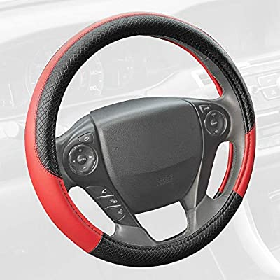 amazon com motor trend sw 807 rd red synthetic leather steeringnot added