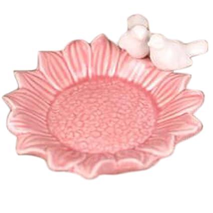 De cerámica con forma de flor Candy bandeja de frutas placa de desechos (girasol rosa