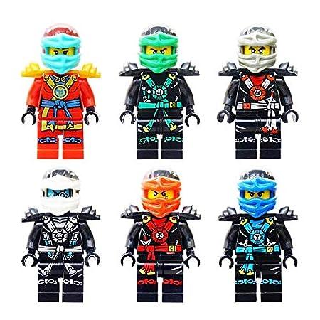 Juego de 6 Bloques de construcción Ninja Japón Figuras para ...