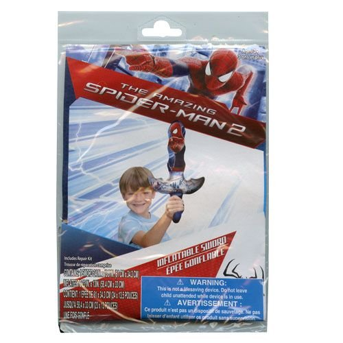 Marvel Spider-Man Inflatable Swim Summer Fun Package Deal (Floaties, Beach Ball, Swim Ring, Mallet, Sword, Raft) by Marvel (Image #5)