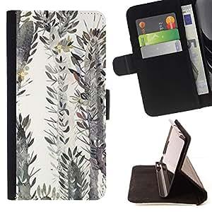 Momo Phone Case / Flip Funda de Cuero Case Cover - Arte Desierto Pintura Acuarela - Samsung Galaxy S5 Mini, SM-G800