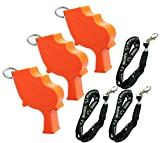 Storm World's Loudest Outdoor, Emergency, Safety, Marine, Police, Underwater, & Survival Whistle | 3pk Bundle + Koala Lanyards, Orange