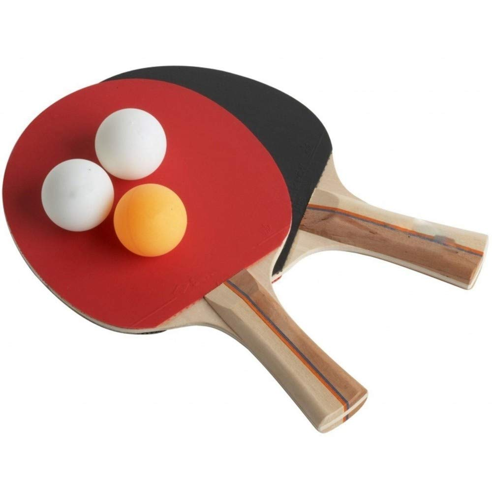 Set 2 Racchette Ping Pong TrAdE Shop Traesio 3 Palline Tennis da Tavolo Gioco