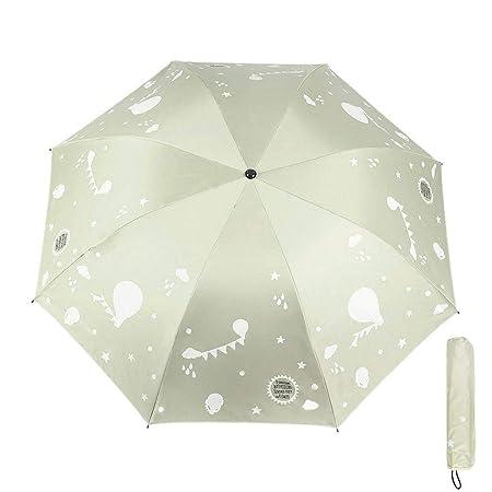 FOONEE Paraguas Compacto para Viajes, Color Paraguas Plegable ...