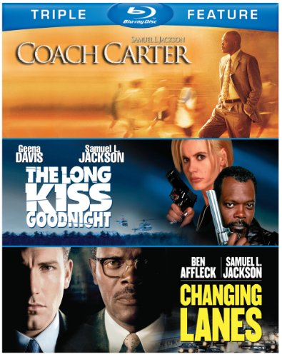 Samuel L. Jackson Triple Feature: Coach Carter / The Long Kiss Goodnight / Changing Lanes [Blu-ray]