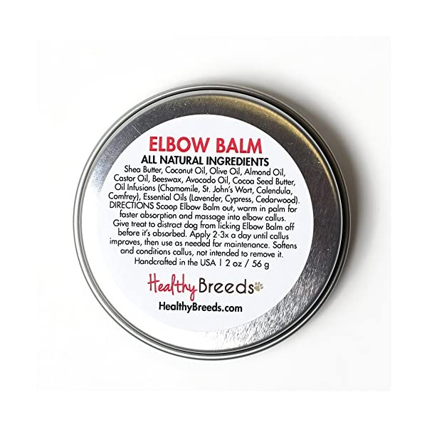 Healthy Breeds Elbow Nose & Paw All-Natural Butter Balms - Over 200 Breeds - Organic Oils to Hydrate & Heal - Unscented Formula - 2 oz 2