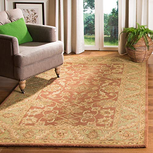 Safavieh Golden Jaipur Collection GJ250E Handmade Rust and Green Premium Wool Area Rug (6' x 9')