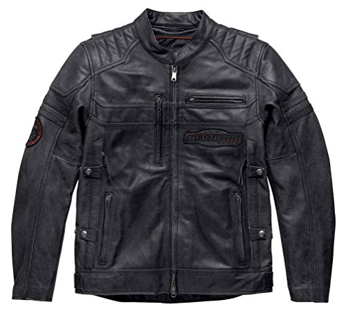 Harley-Davidson Men's Triple-Vent System Canter Leather Jacket 97180-17VM (2XLT) ()