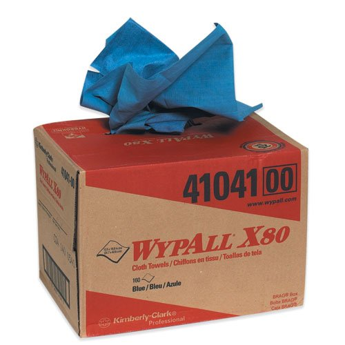 WypAll® X80 ShopPro Shop Rag Dispenser Box, Blue, 1 Box of 160 Wipers (KW101) Category: Cleaning Wipes (Wipers Dispenser Box)
