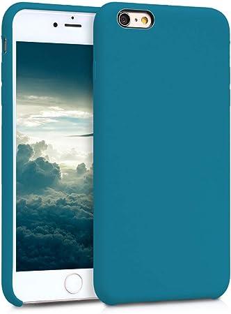 Kwmobile Hülle Kompatibel Mit Apple Iphone 6 Plus 6s Plus Handyhülle Gummiert Handy Case In Petrol Matt Elektronik