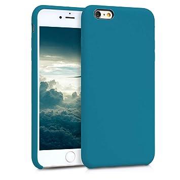 kwmobile Funda para Apple iPhone 6 Plus / 6S Plus - Carcasa de {TPU} para teléfono móvil - Cover {trasero} en {petróleo mate}