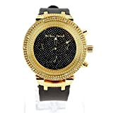 Gold Black Hip Hop Iced Out Bling Unique Folding Clip Band Baller Wrist Watch