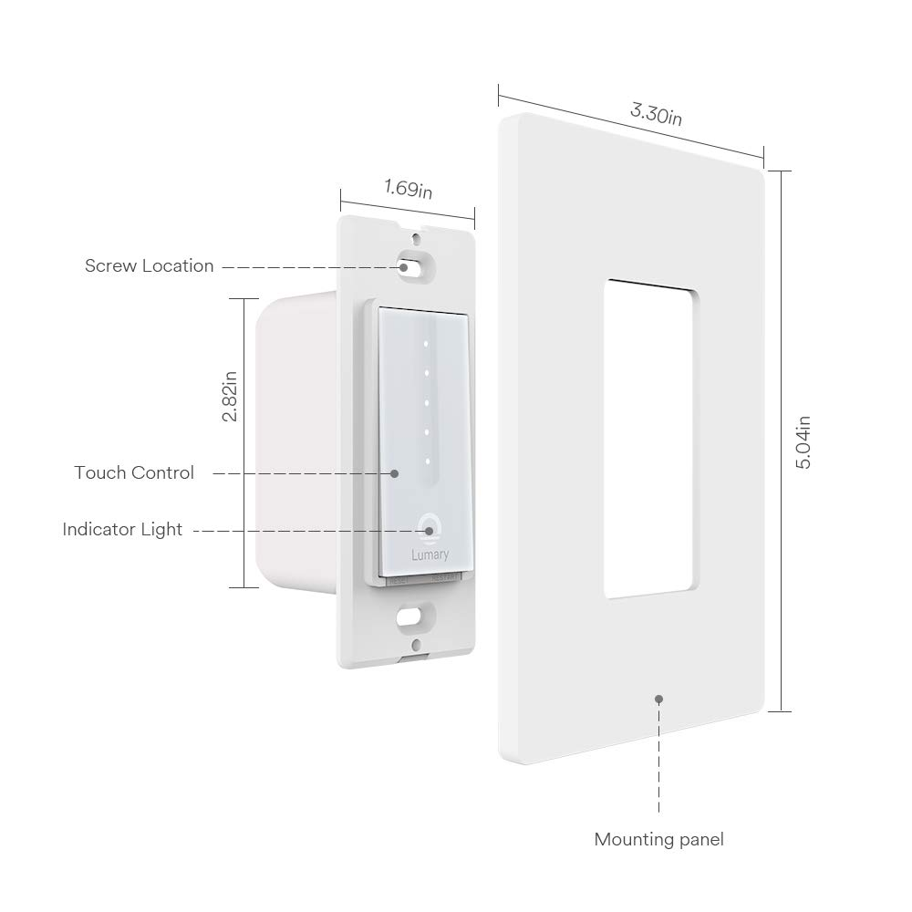 How to install the Lumary L-DS100 Smart Touch Dimmer WiFi Switch