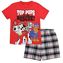 Paw Patrol Little Boys' Toddler Tee and Shorts Set