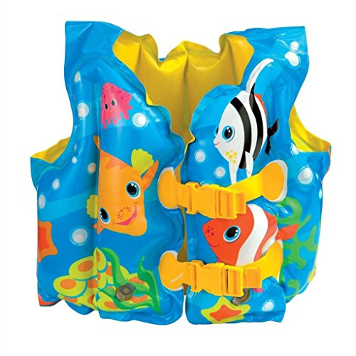 Intex Fun Fish Child Swim Vest Inflatable Kids Life Jacket - #59661 - 2 Count