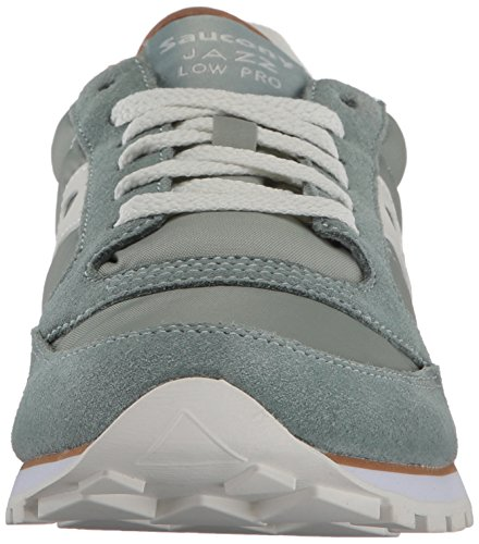 Turquesa Mujer Grey White Cross Low Zapatillas Aqua para Saucony de Pro Jazz qRnxwxAp