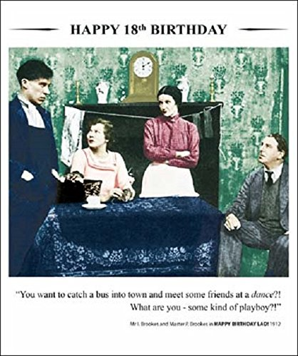 (Drama Queen Happy 18Th Birthday Greeting Card Square Retro Humour Cards)