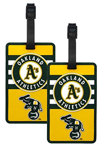 Oakland Athletics - MLB Soft Luggage Bag Tag - Set of 2