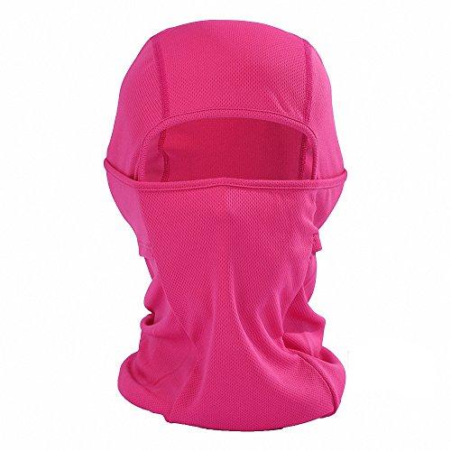Maoko Cycling Outdoor Sports Hood Full Face Mask Hat Windproof- Airsoft Balaclava Mesh Face Mask Rose (Camo Hockey Mask)