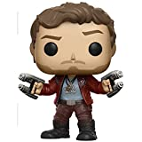 Star-Lord: Funko POP! Marvel x Guardians of the Galaxy 2 Vinyl Figure + 1 FREE Official Marvel Trading Card Bundle (12784)